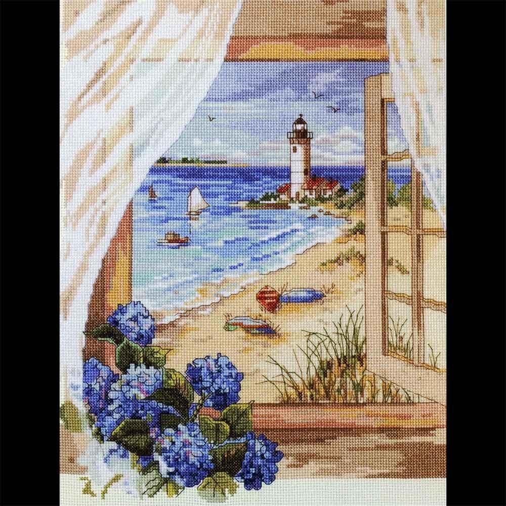 Набор для вышивки вид из окна