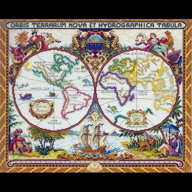 «Старинная карта мира»