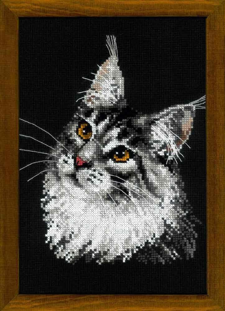 Схема вышивки сибирский кот 49