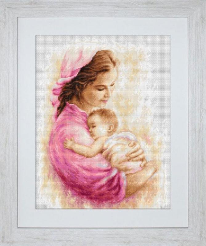 Мать и дитя вышивка лукас 6